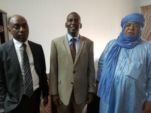 l'Honorable assarahid n'barkawane et Adam Thiam Journaliste Conseiller à la Communication de l'ex-chef d'Etat du Mali Dioucounda Traoré