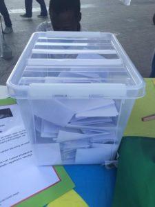 urne aux bulletins de vote